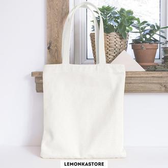 Белая экосумка со змейкой и без змейки / Эко сумка / Сумка женская / сумка-шоппер / Торба