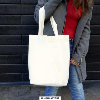 Белая экосумка / Эко сумка / Сумка женская