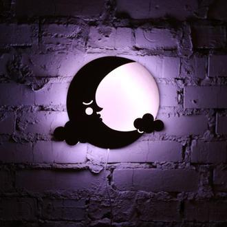 """Ночная лампа из натуральной древесины  """"Луна"""""""