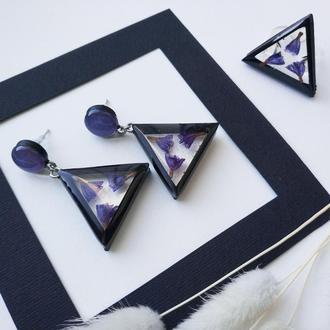 Сет геометрия фиолетового цвета