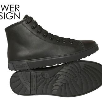 Мужские кеды кроссовки ботинки  натуральная кожа