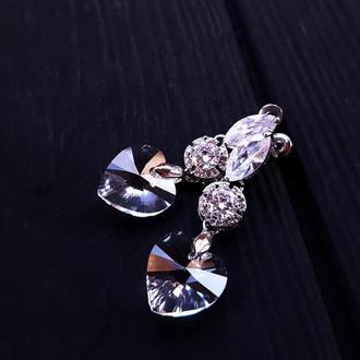 Сережки з кристалами Swarovski