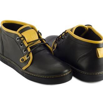 Ботинки KERSI кожа кант желтый