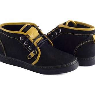 Ботинки KERSI нубук кант желтый