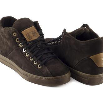 Высокие ботинки KERSI нубук коричневые