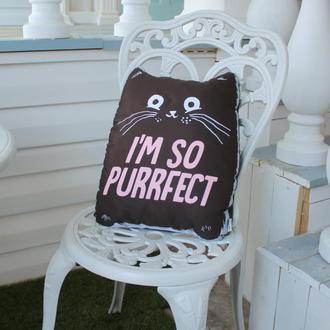 Подушка Кіт чорний, 37см