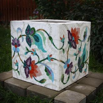 Цветочник садовый (бетон, мозаика)