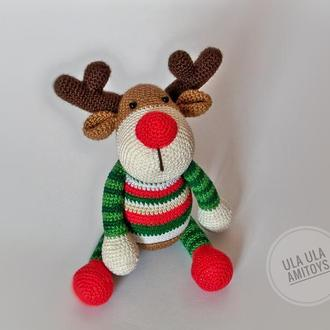 Різдвяний олень Іграшка амігурумі