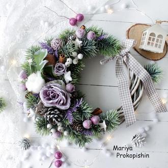 """Новогодний венок """"Прованс"""""""
