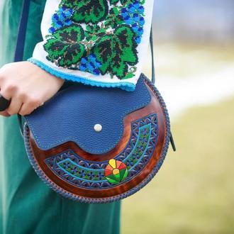 Жіноча дерев'яна сумка