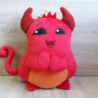 Мягкая игрушка - подушка демон стикер