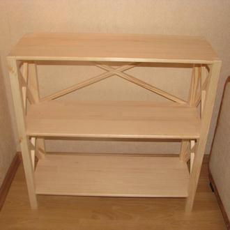 Стеллаж деревянный на три полочки