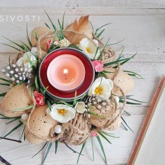 """Пасхальная композиция подсвечник """" Светлый праздник"""""""