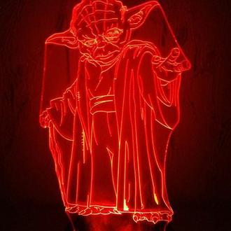 Мастер Йода, ночник, Звездные войны, star wars, подарок, декор