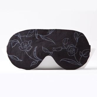 Льняная маска для сна, черная маска для сна