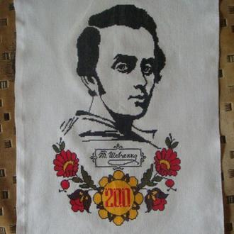 Картина вышитая крестом - Тарас Шевченко - Вышивка