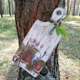"Доска разделочная деревянная ""Лаванда прованс"""