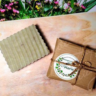 Натуральное мыло с эфирным маслом лаванды и зеленой глиной