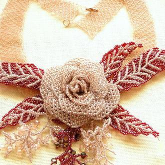 """Ожерелье  """"Розовое настроение"""" подарок для женщины"""