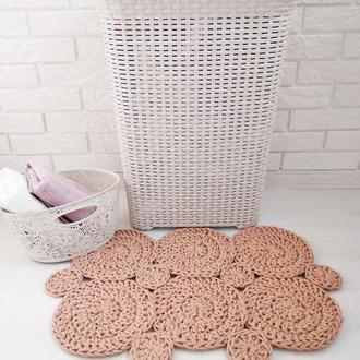 Вязаные коврики для ванной, мягкие, быстро сохнущие коврики