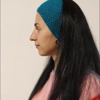 повязка на голову бирюзового цвета слюрэксом бирюзового цвета