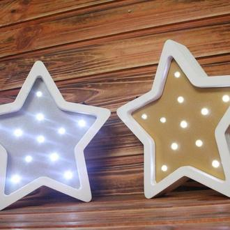 """Детский светодиодный ночник, светильник  """"Звезда"""""""