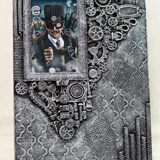 фоторамка настенная в стиле steampunk Оригинальный подарок парню на день рождения
