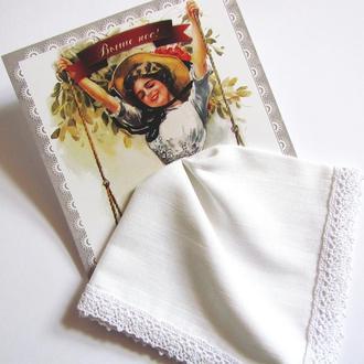Подарочный женский носовой платок Выше нос