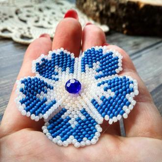 Резинка для волос Синий цветок