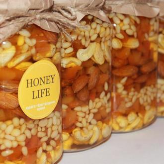 Курага в сочетании с  мёдом и благородными орешками . Honey Life