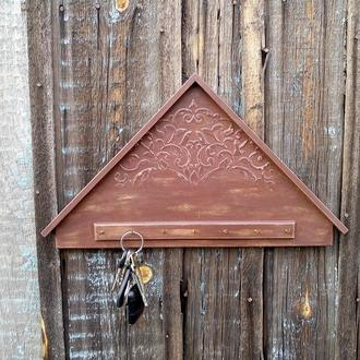 Ключница домик  на стену Большая настенная декоративная ключница в прихожую