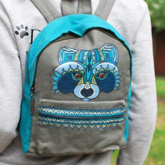 Городской текстильный рюкзак с росписью