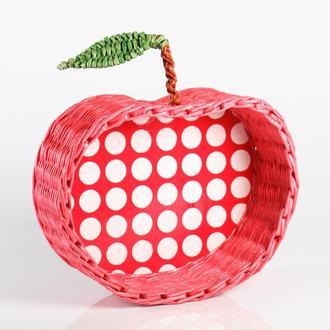 Конфетница или фруктовница Плетеная из бумажной лозы.