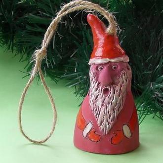 Колокольчик в виде Деда Мороза
