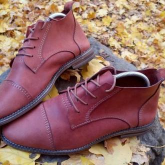 Кожаные ботинки осень весна