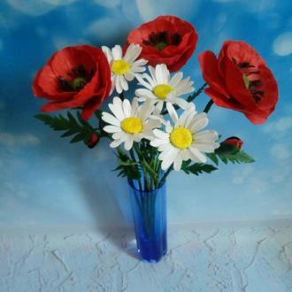 Букет из полевых цветов из фоамирана