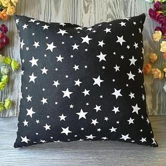 Подушка черное королевство-звезды