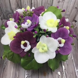 Мыльный букет «Орхидея»