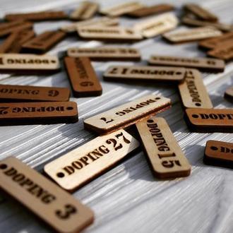 Деревянный брелок на ключи