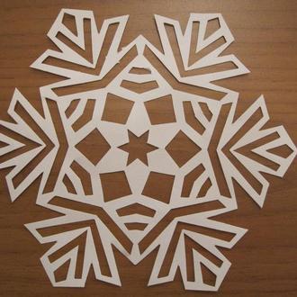 Снежинка бумажная для декора (набор 10 шт)