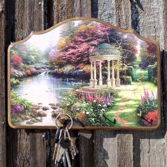Ключница настенная декоративная в прихожую Ключница на стену пейзаж