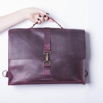 Сумка-рюкзак/ IN07001 бордо