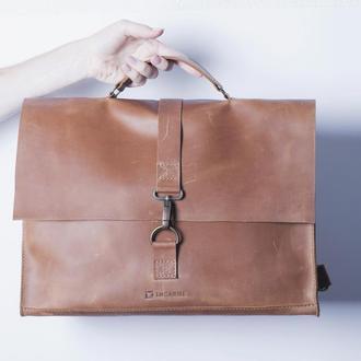 Сумка-рюкзак/ IN07001 коньяк