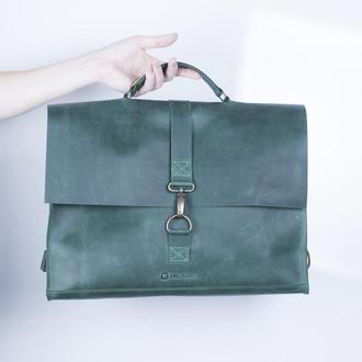Сумка-рюкзак/ IN07001 зеленый