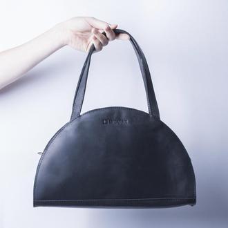 Черная кожаная сумка. /IN07002 черный