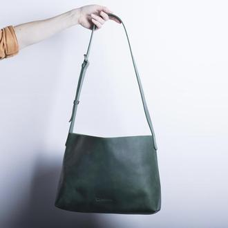 Женская кожаная сумка./ IN07004 зеленый
