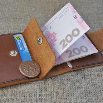 Небольшой кошелек с монетницей из натуральной кожи K71-210