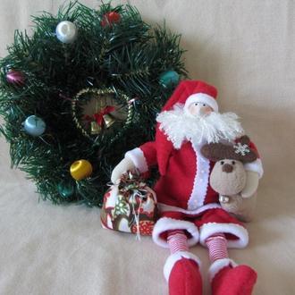 Санта Клаус с оленем