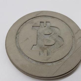 Bitcoin подставка под чашку Bitcoin из бетона - серый