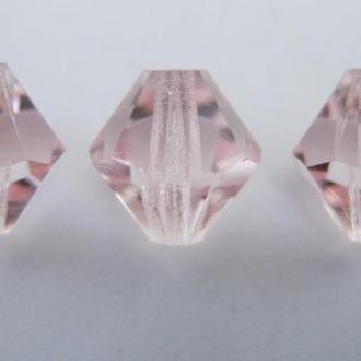 Бусины биконусы хрустальные Preciosa Light Rose  8мм. Упаковка 20шт. Скидки 60%.